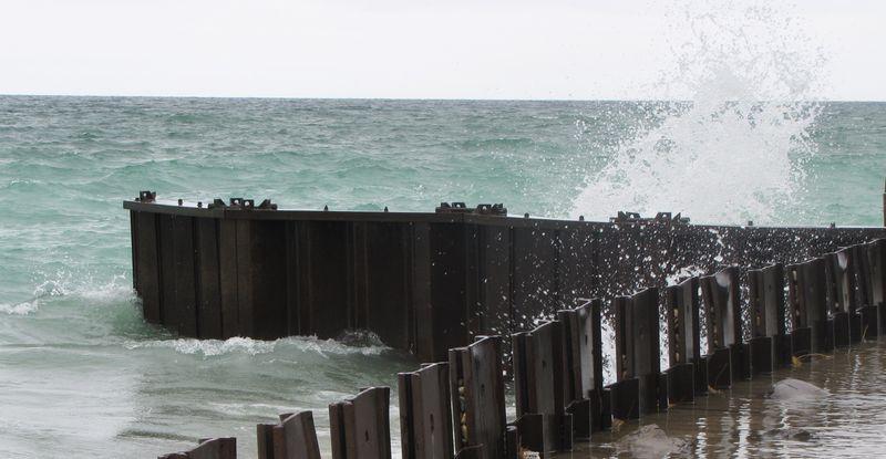 Lake Michigan Breaking