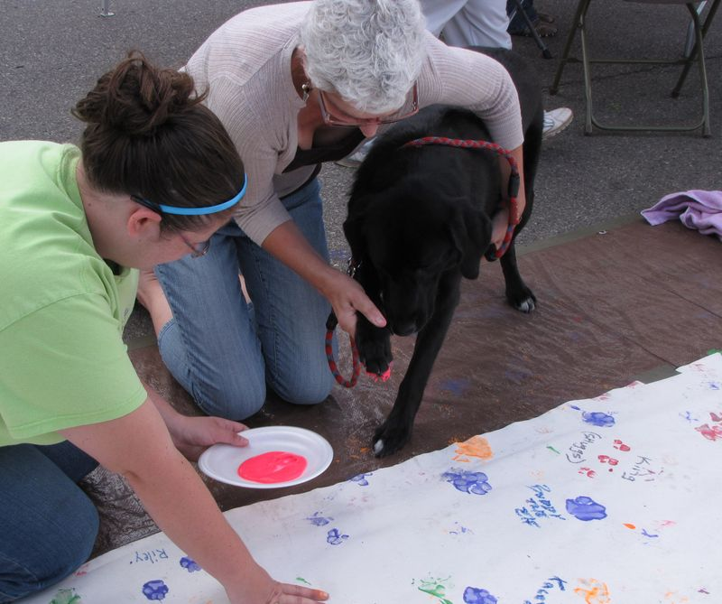 Woofstock with jenny paw printing cropped