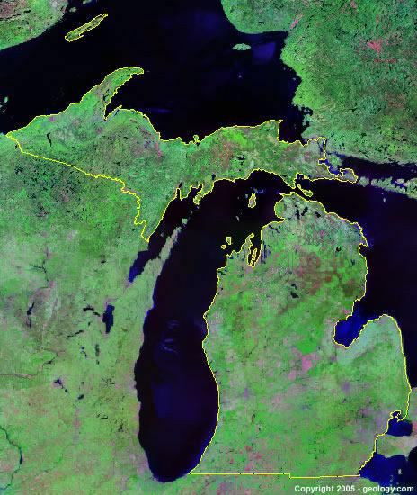 Michigan-satellite-image
